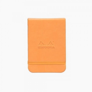 Rhodia - Rhodia Webnotepad Hardcover Deri Kapak A7 Dot (Noktalı) Defter Turuncu 2987