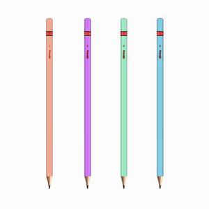 Rotring - Rotring Ahşap Kurşun Kalem Metalik Renkler