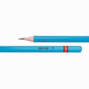 Rotring - Rotring HB Ahşap Kurşun Kalem Neon Mavi 0663 (1)