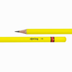 Rotring - Rotring HB Ahşap Kurşun Kalem Neon Sarı 0663 (1)