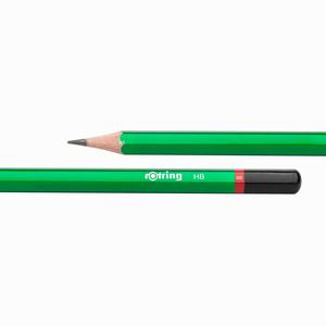 Rotring - Rotring HB Mercanlı Köşeli Ahşap Kurşun Kalem Yeşil 0656 (1)