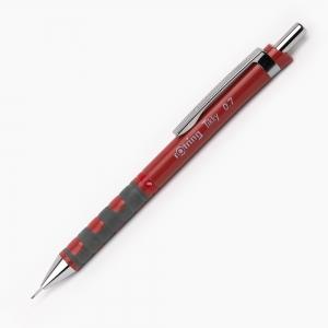 Rotring - Rotring Tikky 0.7 mm Mekanik Kurşun Kalem Kiremit Kırmızı 1937322 3225