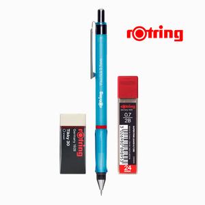 Rotring - Rotring Visuclick 0.7 mm Mavi Mekanik Kurşun Kalem, Min ve Silgi Seti 5253