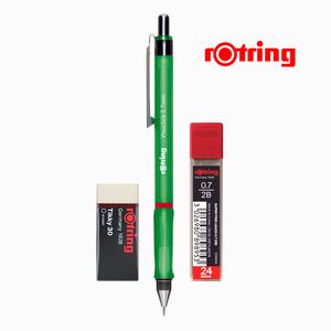 Rotring - Rotring Visuclick 0.7 mm Yeşil Mekanik Kurşun Kalem, Min ve Silgi Seti 5277