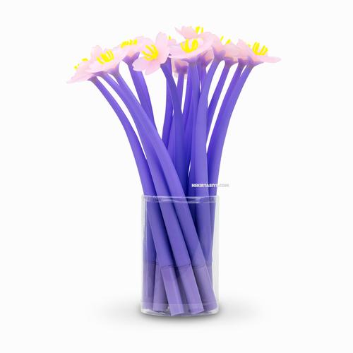 Sakura Çiçeği İğne Uçlu Jel Kalem Mor 2395
