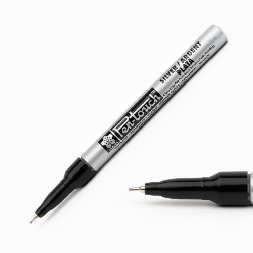 Sakura Pen Touch 0.7 mm Extra Fine Permanent Marker Metalik Gümüş 2789