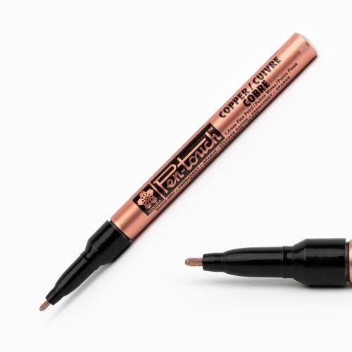 Sakura Pen Touch 1.0 mm Fine Permanent Marker Metalik Bakır 7270