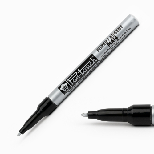 Sakura Pen Touch 1.0 mm Fine Permanent Marker Metalik Gümüş 2802