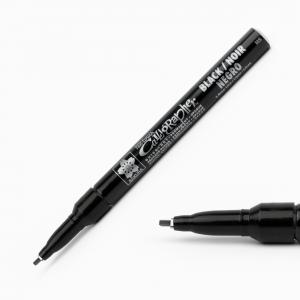 Sakura - Sakura Pen Touch 1.8 mm Calligrapher Permanent Kesik Uç Kaligrafi Kalemi Siyah 0898