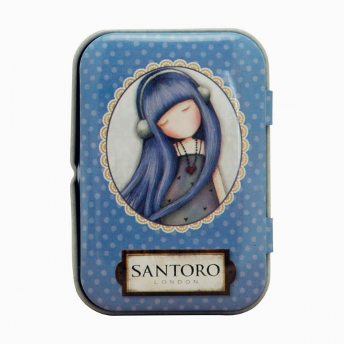 Santoro London Dear Alice Mini Metal Kutulu Mikro Fiber Bez 1153