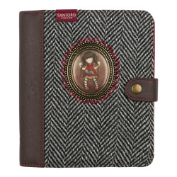 Santoro Gorjuss - Santoro London Journal Deri-Kumaş Organizer