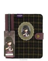 Santoro Gorjuss - Santoro London Journal Deri-Kumaş Organizer Mor