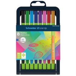 Schneider - Schneider Line Up 0.4mm Fineliner 8li Set