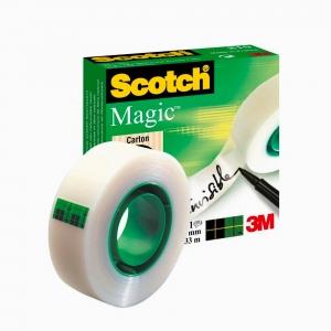 Scotch - Scotch Magic Tape Görünmez Mat Bant 19mm X 33m (Üzerine yazı yazılabilir) 3765