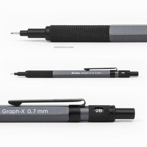 Scrikss Graph-X 0.7mm Mekanik Kurşun Kalem Antrasit 6206