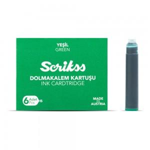 Scrikss - Scrikss Standart Dolma Kalem Kartuşu Yeşil