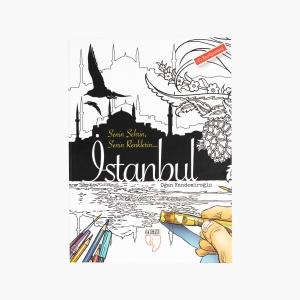 - Senin Şehrin Senin Renklerin İstanbul 20 Kartpostal Boyama 1190