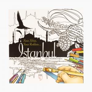 - Senin Şehrin Senin Renklerin İstanbul Büyük Boyama Kitabı 0971