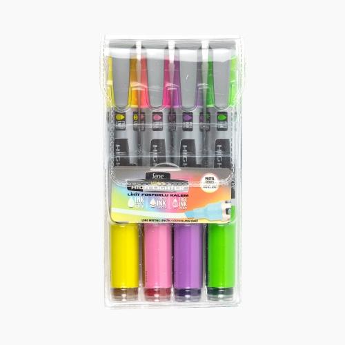Serve Likit İşaretleme Kalemi Pastel 4'lü Set 5247