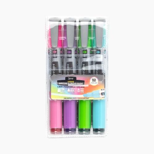 Serve Likit İşaretleme Kalemi Pastel 4'lü Set 5285