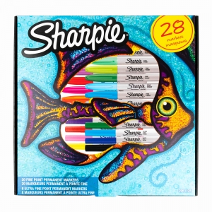 Sharpie - Sharpie 20 Fine 8 Ultra Fine Permanent Marker Set 1255