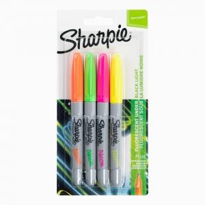 Sharpie - Sharpie 4'lü Permanent Marker Neon Set 1985855 8555