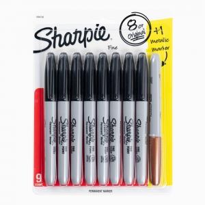 Sharpie - Sharpie 9'lu Permanent Marker Fine Point Set 1964792 7250
