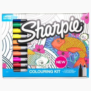 Sharpie - Sharpie Coloring Kit Limited Edition Kalem Defter Set 1997915 8515