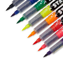 Sharpie - Sharpie Fırça Uçlu Tekstil Kalemi 8'li 1825248 2152 (1)
