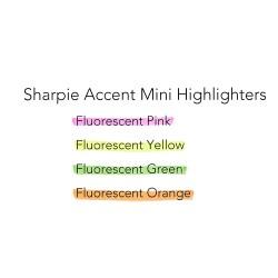Sharpie Mini Accent İşaretleme Kalemi - Thumbnail