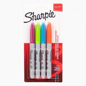 Sharpie - Sharpie Permanent Kalem 4'lü Set Soft Renkler 1985859 8593