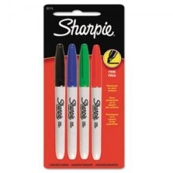Sharpie - Sharpie Permanent Kalem 4'lü Ana Renkler