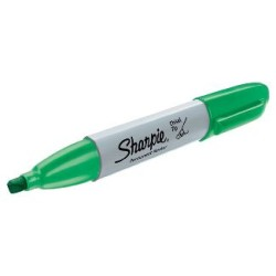 Sharpie - Sharpie Permanent Marker Kesik Uç Yeşil