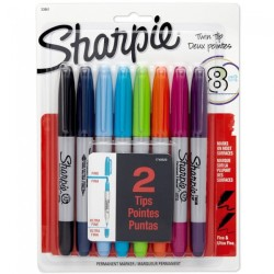 Sharpie - Sharpie Permanent Twin 8'li Set 1749529 0944