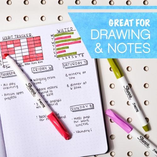 Sharpie S-Note 12 Renk Creative Markör İşaretleme Kalemi Seti 2338