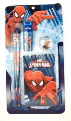 Spider Man - Spider Man Kurşun Kalemli Kirtasiye Seti