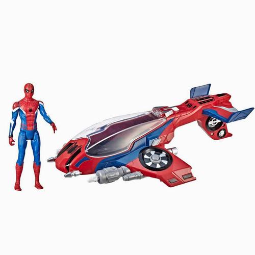 Spiderman Far From Home Spiderjet ve Spiderman Figürü 6380