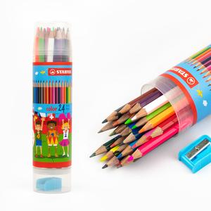 Stabilo - Stabilo Color 24′lü Tüp Kuru Boya Seti (Kalemtraş Hediyeli) 4305