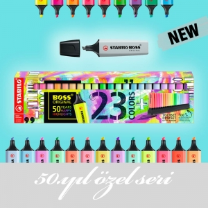 Stabilo Boss Original 50. Yıl Özel Seri 23 Renk İşaretleme Kalemi Seti 5936 - Thumbnail