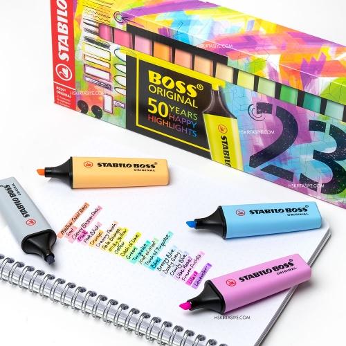 Stabilo Boss Original 50. Yıl Özel Seri 23 Renk İşaretleme Kalemi Seti 5936