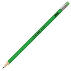 Stabilo - Stabilo Kurşun Kalem Silgili Neon Yeşil 2B