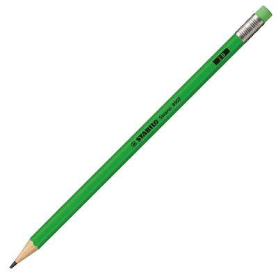 Stabilo Kurşun Kalem Silgili Neon Yeşil 2B