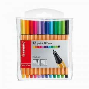 Stabilo - Stabilo Mini Point 88 12'li Fineliner Set 688/12-1 7219