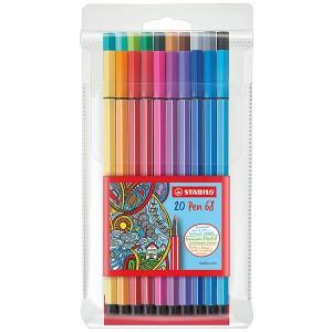 H&S - Stabilo Pen 68 20'li Set Keçeli Kalem