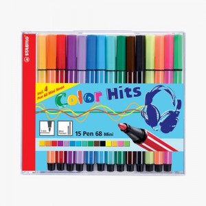 Stabilo - Stabilo Pen 68 Mini 15'li Keçeli Kalem Seti 668/15-021 3065