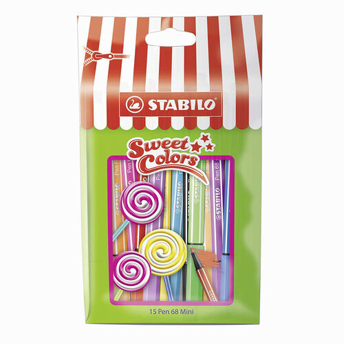 Stabilo Pen 68 Mini Sweet Colors 15'li Keçeli Kalem Seti 668/15-051 0338