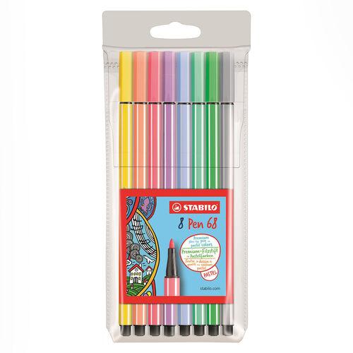 Stabilo Pen 68 Pastel Renkler 8'li Keçeli Kalem Seti 68/8-01 7882