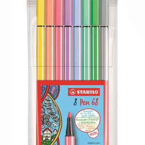 Stabilo - Stabilo Pen 68 Pastel Renkler 8'li Keçeli Kalem Seti 68/8-01 7882 (1)