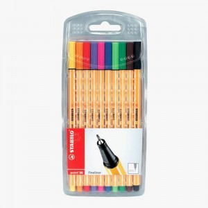 Stabilo - Stabilo Point 88 10'lu Fineliner Set 8810