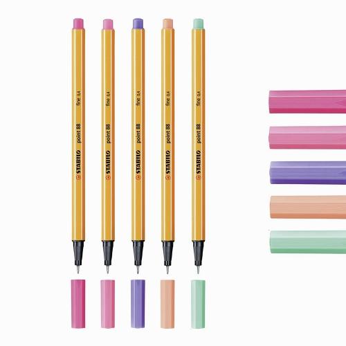 Stabilo Point 88 5'li 0.4 mm Sakura Tones Fineliner Kalem 88/59, 88/17, 88/29, 88/26, 88/13